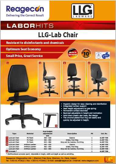 LLG Lab Chairs, Stools & Rests